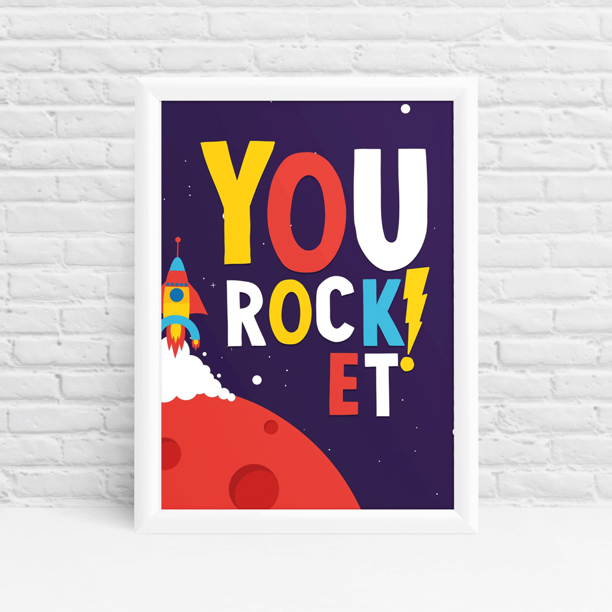 You Rock mindfulness space art gift by ibbleobble