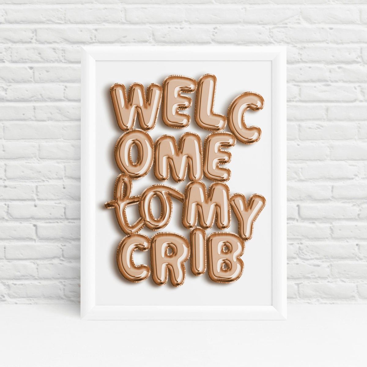 Baby shower print 'Welcome to my crib' wall art quote by Ibbleobble®