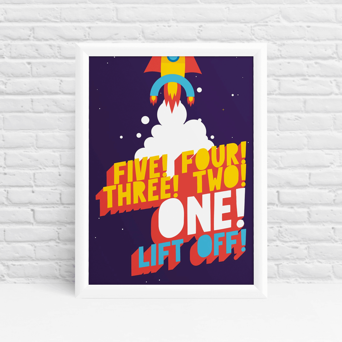 Countdown to liftoff wall art by Ibbleobble