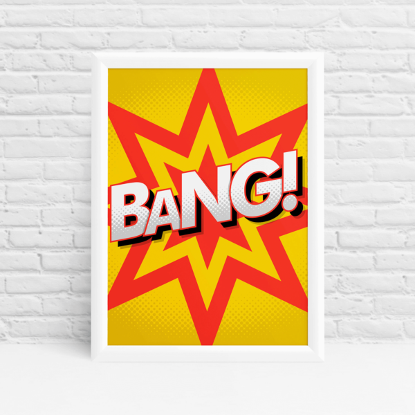 Pop art poster design with a BANG! by Ibbleobble®