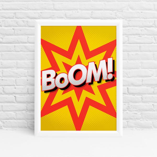 BOOM superhero print