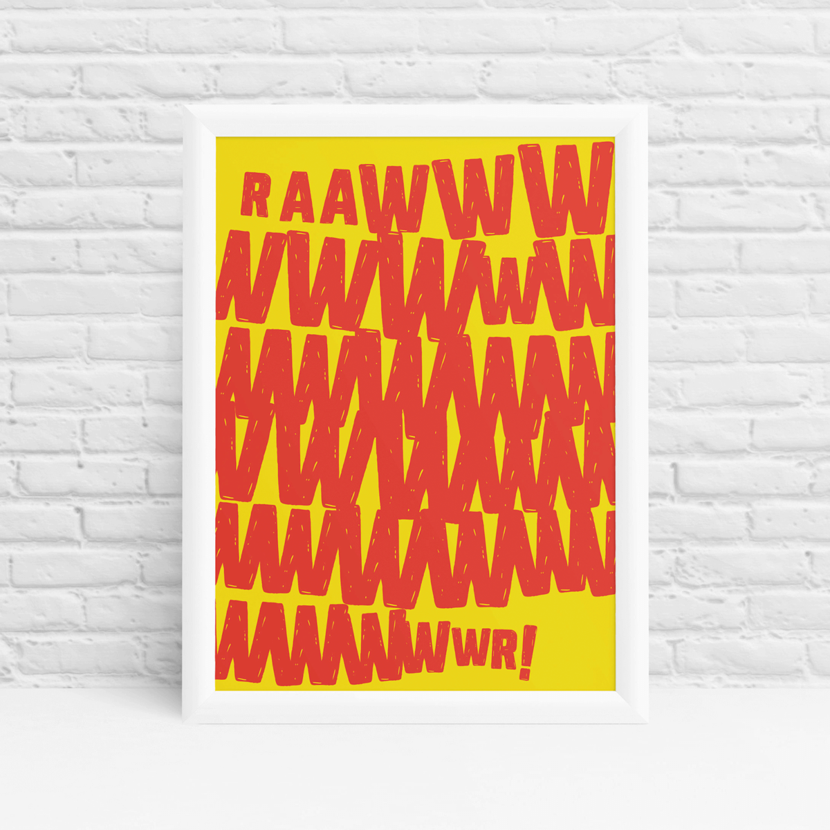 Colourful kids monster rawr playroom wall art by Ibbleobble®