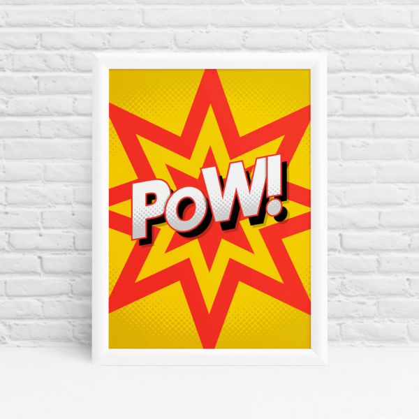comic style poster with a POW! by Ibbleobble®