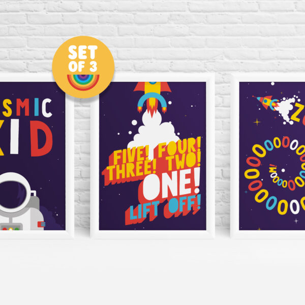 Set of 3 space prints by Ibbleobble