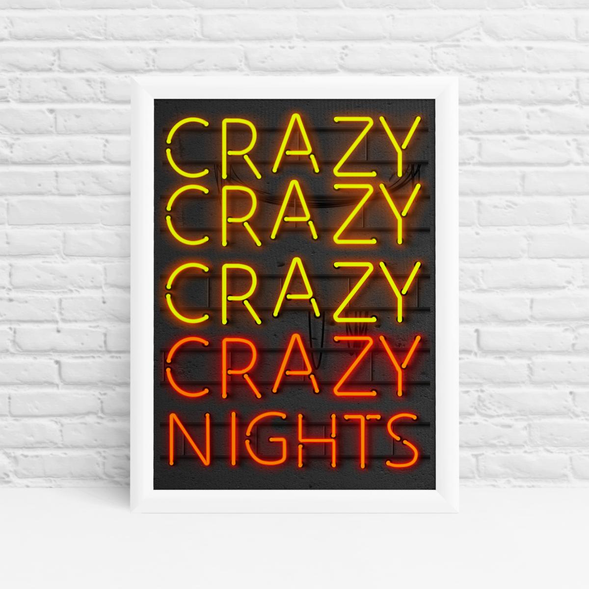 Crazy Nights Original Wall Art